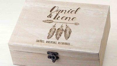 Cofre de fusta personalitzat