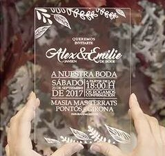 Invitacio de casament de Metacrilat