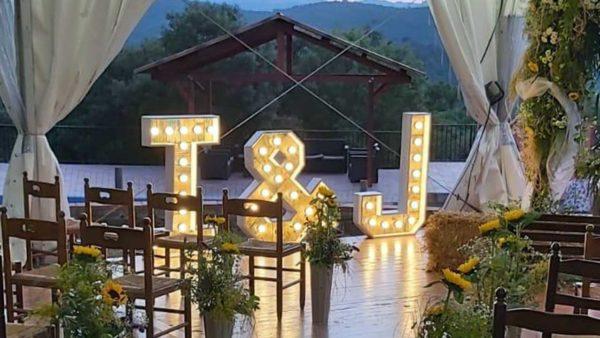 ramalaire wedding planner detalls de casament venda o lloguer de productes lletres de llum led personalitzades