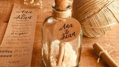Invitació missatge en una ampolla