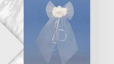 Pack 2 llaços tul blanc amb flor
