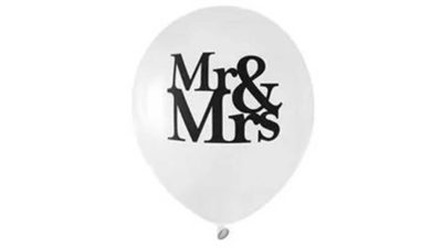 "Globus blanc ""Mr & Mrs"""