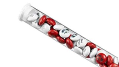 lacasitos personalitzats en tubs de plastic