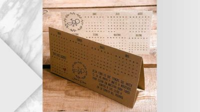 Calendari personalitzat de kraft