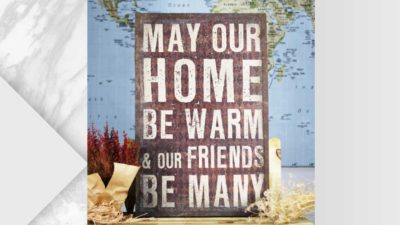 """Llenç """"May our home be warm and our friends be many"""""""