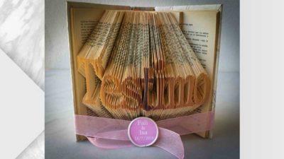llibre de pagines doblegat t'estimo