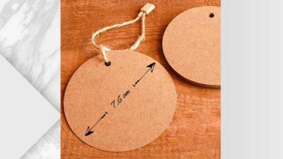 Etiquetes kraft rodones grans personalitzables