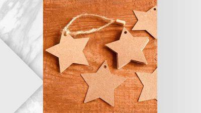 Etiqueta kraft personalitzable en forma d'estrella per penjar