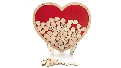 Llibre de firmes cors de fusta vermell