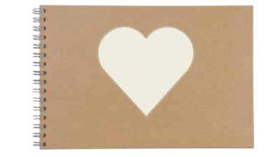 Llibre de firmes kraft portada cor blanc