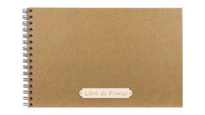 Llibre de firmes Kraft rectangular