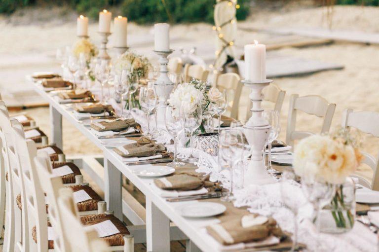decoracio de taula rodones o rectangulars
