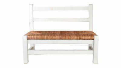 banc petit de fusta blanca