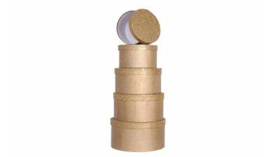 caixes dauradas apilables rodones