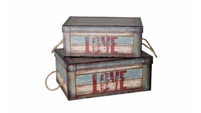"""caixa vintage """"love"""""""
