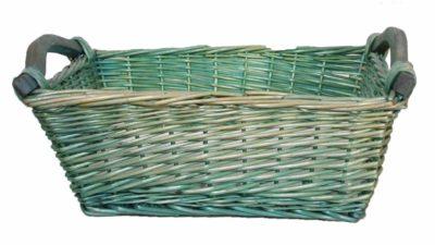 cistell de mimbre verd