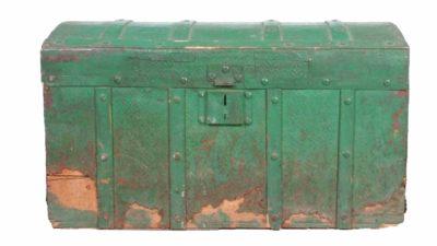 cofre verd vintage