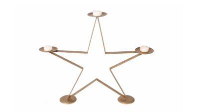 estrella metàlica duarada portaespelmes