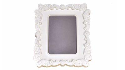 marc blanc petit per fotogafies amb laterals ondulats