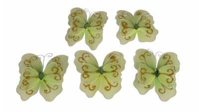 papallones de plastic verdes amb iman