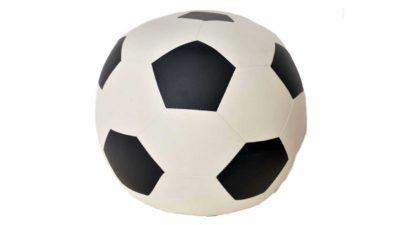 puff en forma de pilota de fútbol
