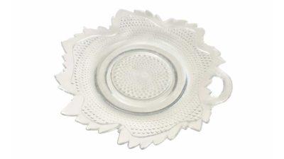 plat de vidre en forma de fulla gran