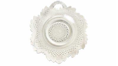 plat de vidre en forma de fulla petita