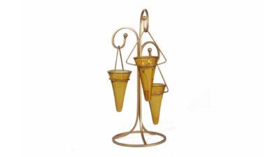 portaespelmes metàlic daurat