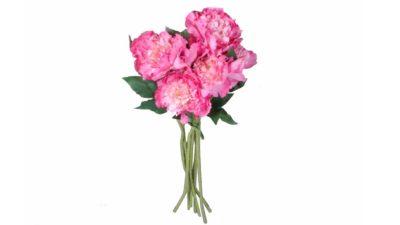ram de flors artificial de flors roses i blanques