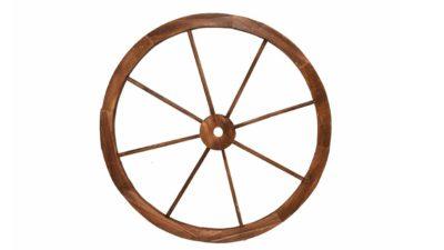 Roda de carro de fusta