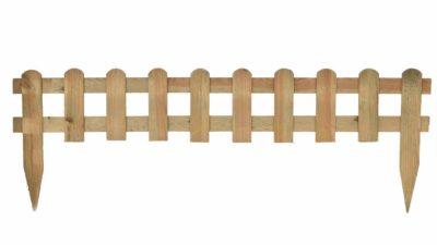 valla de fusta natural
