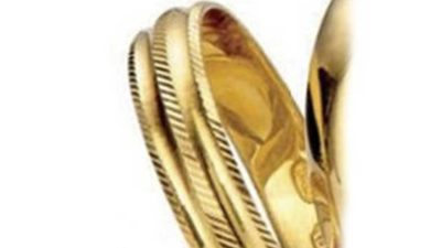 aliança d'or massís diferents talles