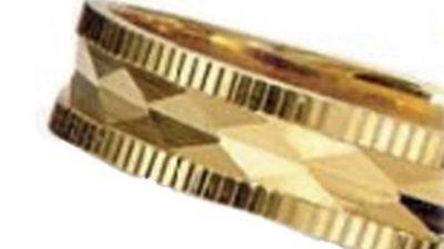 aliança d'or groc massís