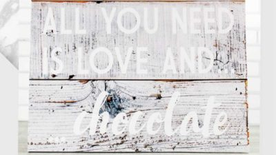 cartell rustic all you need is love