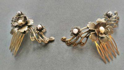 tocats de casament filigrana i perles