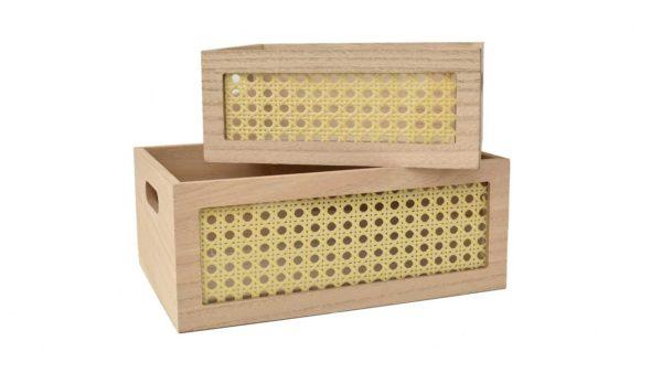 caixa de fusta de lloguer per decoració de raconets