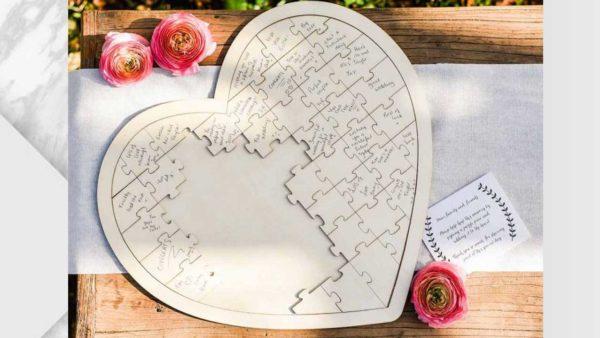 ramalaire wedding planner detalls de casament venda de productes llibre de firmes puzzle cor fusta original