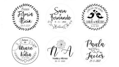 ramalaire wedding planner serveis de casament venda de detalls segells personalitzads logo rodons