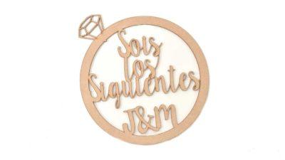 ramalaire wedding planner venda de productes detalls de casament cartell de sois los siguientes de madera
