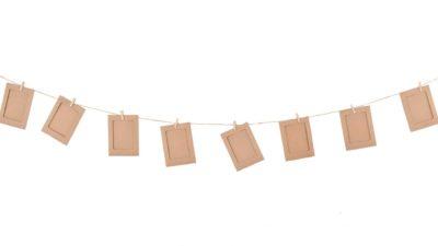 ramalaire wedding planner detalls de casament material de lloguer banderola de cartro per lletres o fotografies