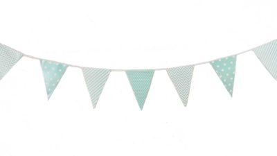 ramalaire wedding planner detalls de casament material de lloguer banderola tons blaus cels per decoracio de casament