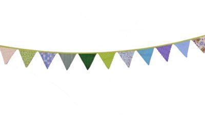 ramalaire wedding planner detalls de casament material de lloguer banderola tons verds i blaus per decoracio de casament