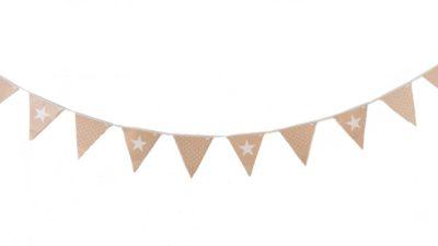 ramalaire wedding planner serveis de casament detalls de casament servei de lloguer de material servei de decoracio banderola de saca i estrelles blanques per deco o candy bar