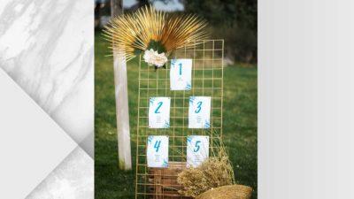 ramalaire wedding planner decoracio de casament seatting plan panell de ferro daurat