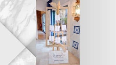 ramalaire wedding planner lloguer de material seatting plan marc de fusta blanca amb fil per penjar seatting plan 600x338